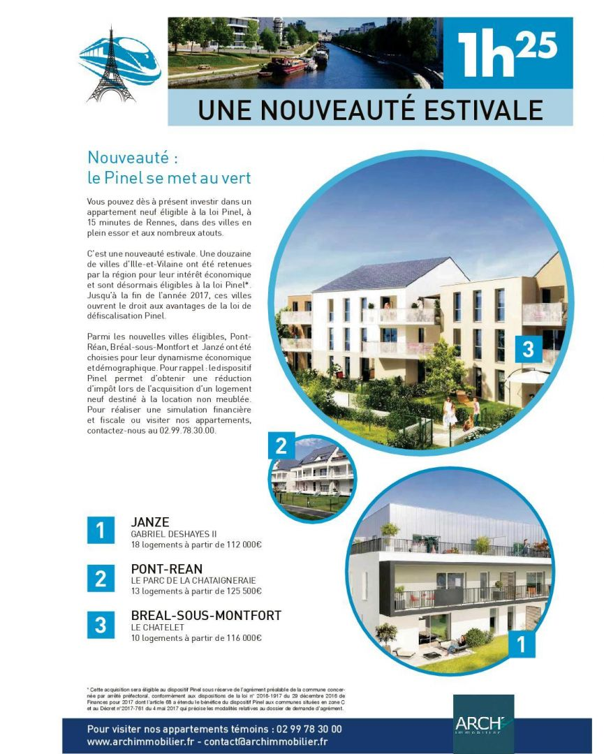 Le pinel se met au vert arch immobilier for Arch immobilier rennes