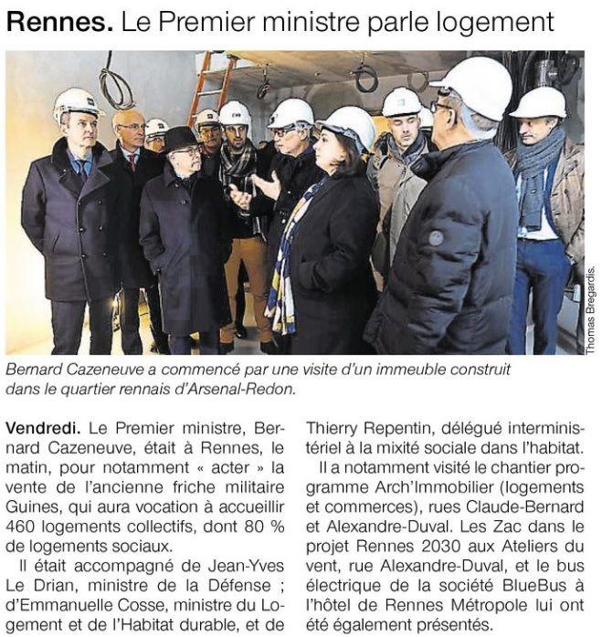 Rennes - Le premier ministre parle logement