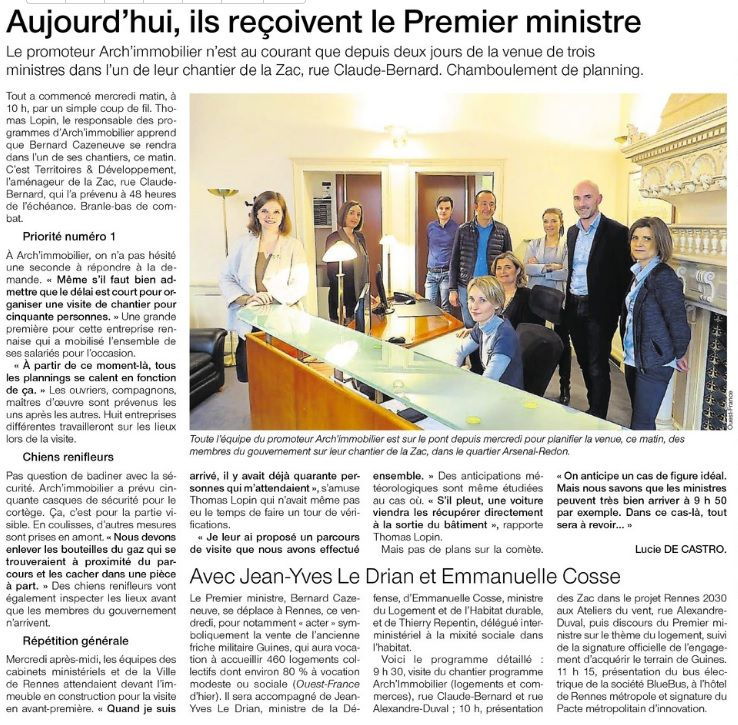 Bernard cazeneuve visite absolu arch immobilier for Arch immobilier rennes